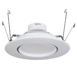 "6"" LED recessed lighting retrofit white eyeball trim 15watt dimmable fully adjustable"