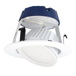 "Sylvania 70387 Ultra RT4 4"" dimmable LED recessed lighting retrofit white gimbal trim 2700K"