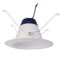 "Sylvania 74295 Ultra RT5/6 5"" and 6"" dimmable LED recessed lighting 13watt retrofit white reflector trim 3000K"