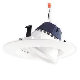 "Sylvania 73466 Ultra RT6 6"" dimmable LED recessed lighting retrofit white gimbal trim 2700K"