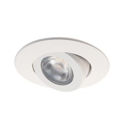 "2"" LED recessed ceiling lighting white adjustable gimbal trim warm light 3000K dimmable"