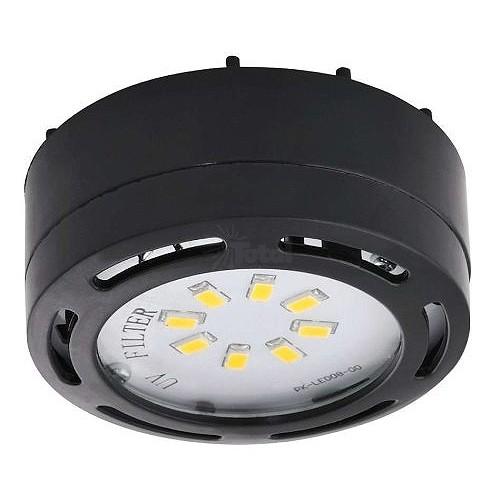Led Black Puck Light 4watt 120volt Recessed Or Surface