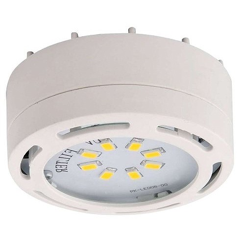 LED white puck light 4watt 120volt recessed or surface mount under cabinet lighting dimmable linkable warm white  sc 1 st  Total Recessed Lighting & LED white puck light 4watt 120volt recessed or surface mount under ...
