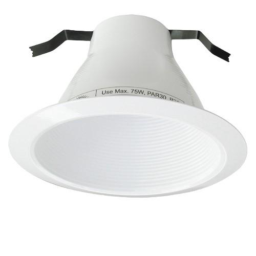 6 recessed lighting air tight black stepped baffle white trim aloadofball Gallery