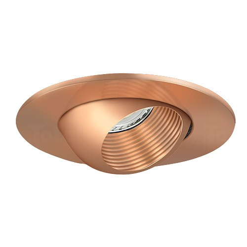 3 Low Voltage Recessed Lighting Copper Baffle Copper Eyeball Trim