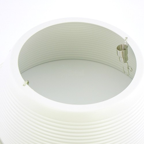 6 white metal stepped baffle white trim recessed lighting par30