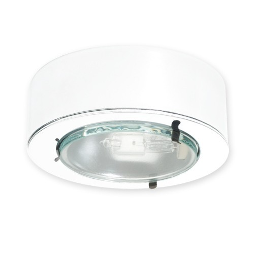 halogen egressed glass lens white puck light 12volt at 20watts for