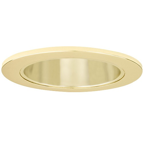 4 recessed lighting led retrofit gold reflector polished brass trim aloadofball Gallery