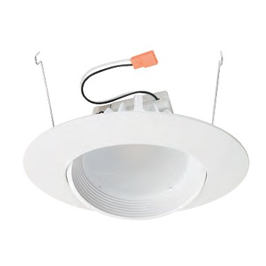 6 dimmable adjustable led recessed lighting retrofit white baffle 6 dimmable adjustable led recessed lighting retrofit white baffle eyeball trim for flat ceilings aloadofball Image collections