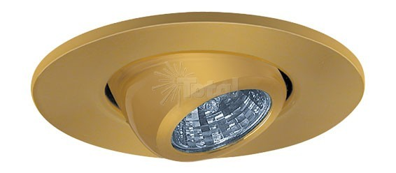 2 recessed lighting adjustable mr11 polished brass eyeball trim