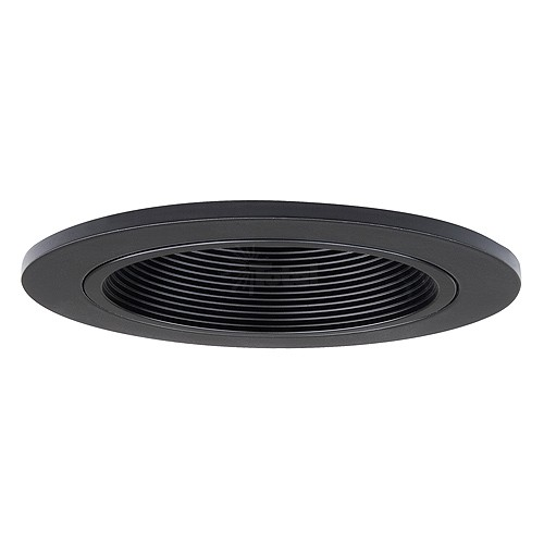 3 Quot Low Voltage Recessed Lighting Black Stepped Baffle