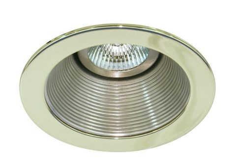 4 low voltage recessed lighting satin baffle polished brass trim mozeypictures Image collections