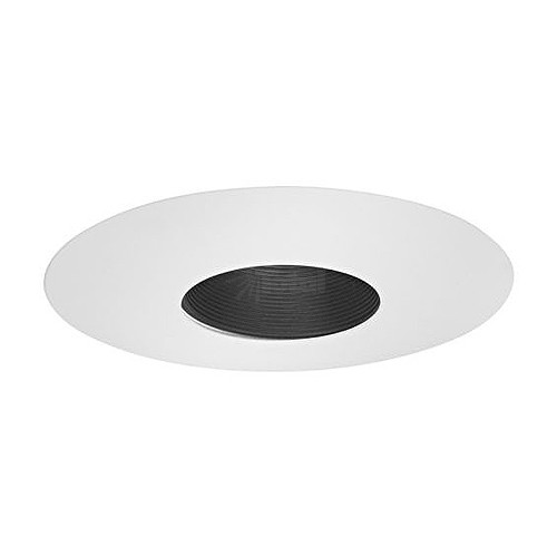 6 Quot Low Voltage Recessed Narrow Stepped Black Baffle White Trim
