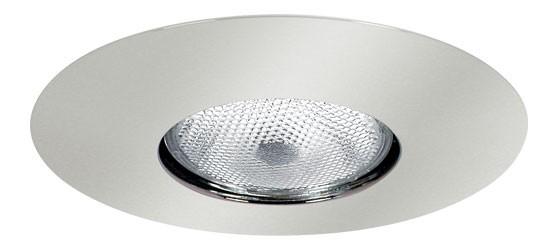"""6 Inch Recessed Can Light PAR30 R30 6/"""" Chrome Stepped Baffle Trim Chrome Ring"""