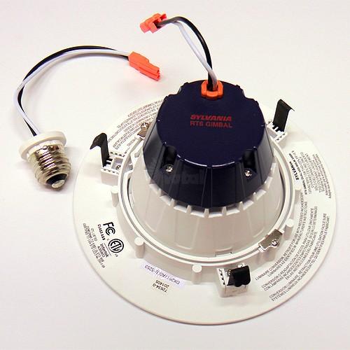 sylvania 21317 ultra rt6 6 dimmable led recessed lighting retrofit