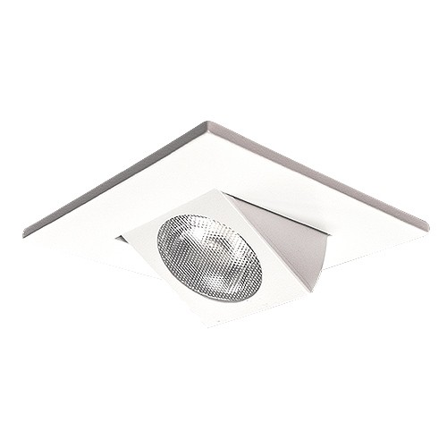 2 led square recessed ceiling lighting white adjustable gimbal trim 2 led square recessed ceiling lighting white adjustable gimbal trim warm light 3000k dimmable mozeypictures Image collections