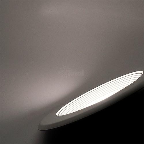 6 led recessed ceiling lighting white baffle trim natural light