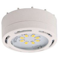 LED white puck light 4watt 120volt recessed or surface mount under cabinet lighting dimmable linkable warm white