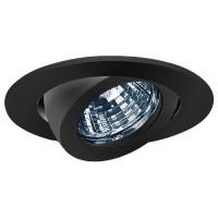 "3"" Low voltage recessed lighting fully adjustable black gimbal ring trim"