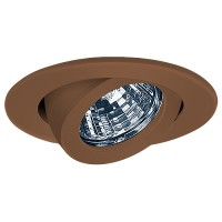 "3"" Low voltage recessed lighting fully adjustable bronze gimbal ring trim"