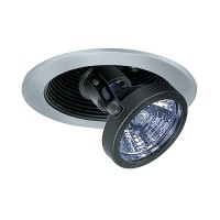 "3"" Low voltage recessed lighting black baffle satin pull down trim"