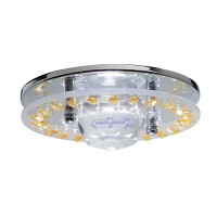 "3"" Low voltage recessed lighting decorative glass topaz chrome trim"