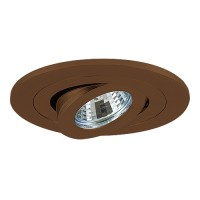 "4"" Low voltage recessed lighting fully adjustable bronze gimbal trim"