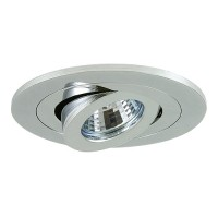 "4"" Low voltage recessed lighting fully adjustable chrome gimbal trim"
