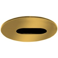 "4"" Low voltage recessed lighting adjustable angle-cut wall wash polished brass slot trim"