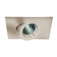 "4"" Low voltage recessed lighting 35 degree tilt fully adjustable satin baffle satin square eyeball trim"