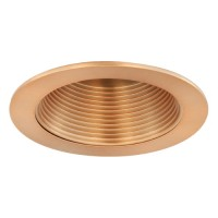 "4"" Recessed lighting copper baffle copper trim"