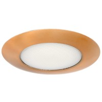 "5"" Recessed lighting albalite lens copper shower trim"