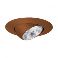 "6"" Recessed lighting bronze eyeball trim"