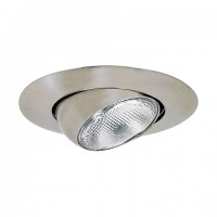 "6"" Recessed lighting satin eyeball trim"
