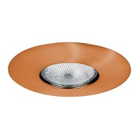 "6"" Recessed lighting Par 30 R 30 copper open trim"