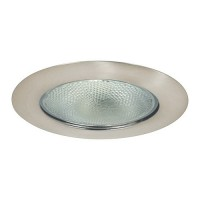 "6"" Recessed lighting Par 38 R40 satin open trim"