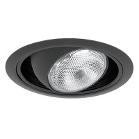 "6"" Recessed lighting regressed black eyeball black baffle black trim"