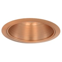 "6"" Low voltage recessed lighting adjustable metal copper stepped baffle copper trim"