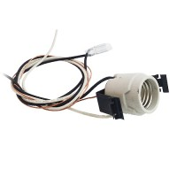 "Modern 5"" recessed lighting socket with modern clips, ground and thermal sensor"