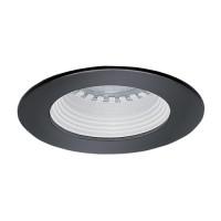 LED under cabinet recessed white baffle black trim 12 volt 1 watt MR11 LED