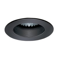 LED under cabinet recessed black baffle black trim 12 volt 1 watt MR11 LED