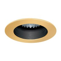 LED under cabinet recessed black baffle polished brass trim 12 volt 1 watt MR11 LED