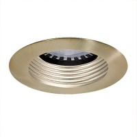 Under cabinet recessed satin baffle satin trim 12 volt 35 watt MR16