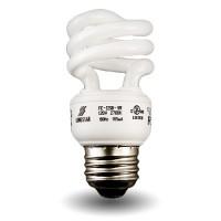 Mini Spiral Compact Fluorescent - CFL - 9 watt - 27K