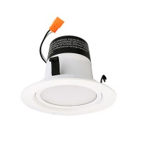 "Green Watt G-DL4D-15W-27EL 4"" dimmable LED recessed lighting 15watt retrofit white reflector trim 2700K"