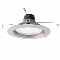 "Green Watt G-DL6D-13W-50SILVER 6"" dimmable LED recessed lighting 13watt retrofit silver reflector trim 5000K"
