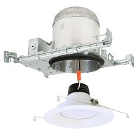"6"" LED recessed lighting new construction IC AT housing white LED retrofit kit"