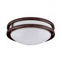 "LED 14"" two ring bronze ceiling surface light flush mount cool white 4000K dimmable LED-JR002BRZ"