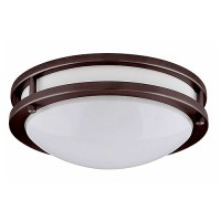 "LED 17"" two ring bronze ceiling surface light flush mount cool white 4000K dimmable LED-JR003BRZ"