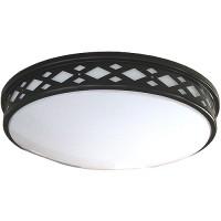 "LED 17"" diamond lattice bronze round ceiling surface light flush mount warm white 3000K dimmable LED-JR003DBZ"